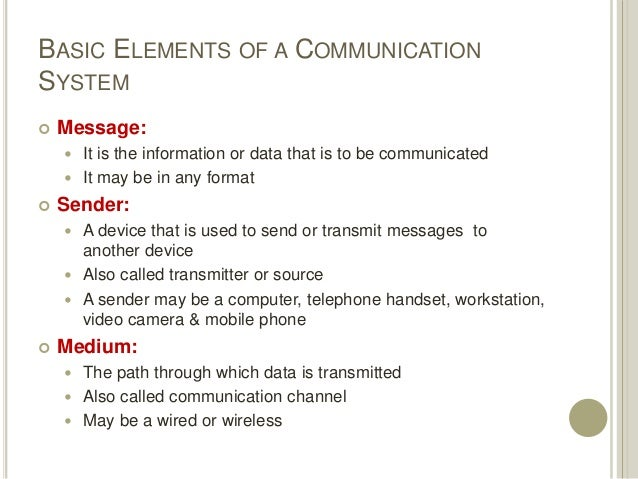Data Communication System : Data communications and computer networks