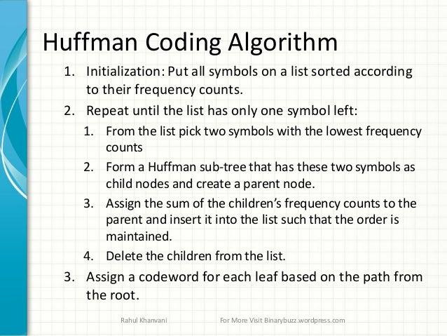 Data compression huffman coding algoritham