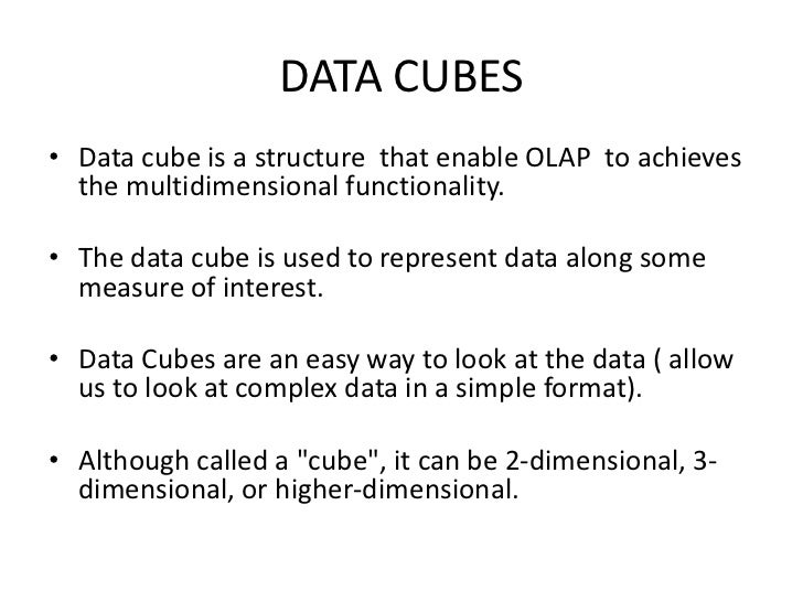 Data cubes