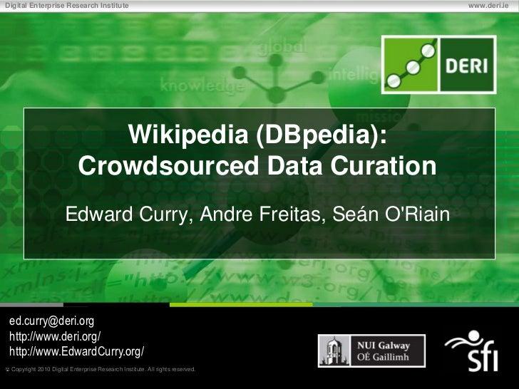 Digital Enterprise Research Institute                                         www.deri.ie                              Wik...