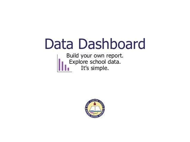 WCCUSD data dashboard electronic brochure