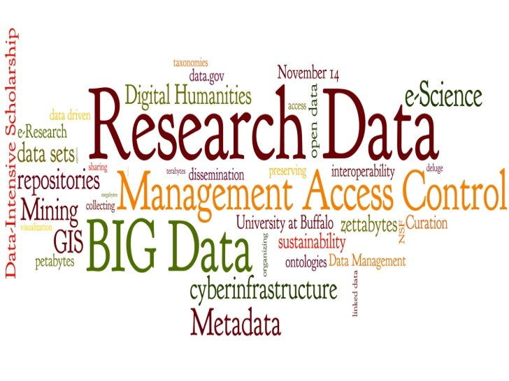 Research Data: Management, Access, ControlUniversity at BuffaloNovember 14, 2011Center for Tomorrow8:30am to 4:00pm
