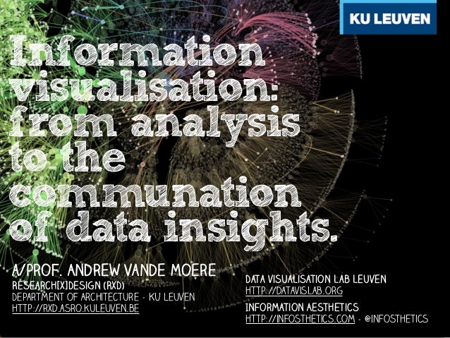 Information visualisation: from analysis to the communation of data insights. a/prof. Andrew Vande Moere Research[x]Design...