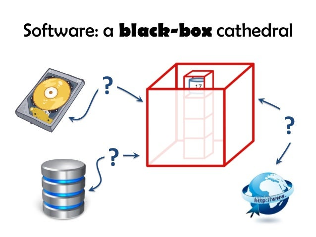 Software: a black-box cathedral ? ? ?