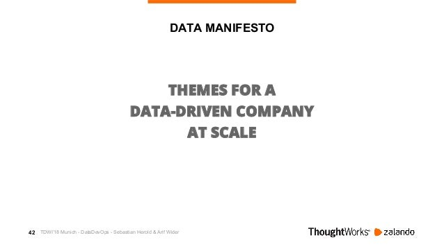 43 M ETRIC CONSUMER DATA LANDSCAPE DATA PRODUCER THEMES FOR DATA AT SCALE TDWI'18 Munich - DataDevOps - Sebastian Herold &...