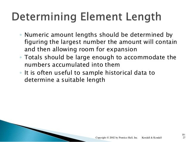 ◦ Numeric amount lengths should be determined by figuring the largest number the amount will contain and then allowing roo...