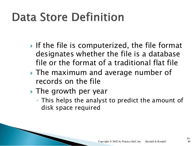  If the file is computerized, the file format designates whether the file is a database file or the format of a tradition...