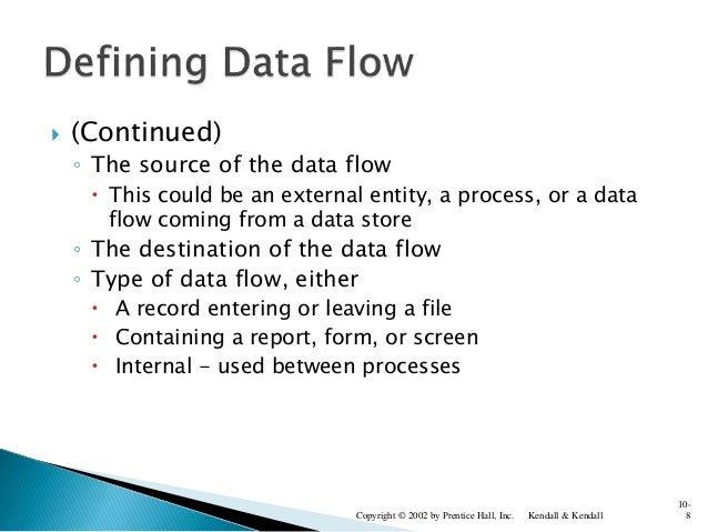  (Continued) ◦ The source of the data flow  This could be an external entity, a process, or a data flow coming from a da...
