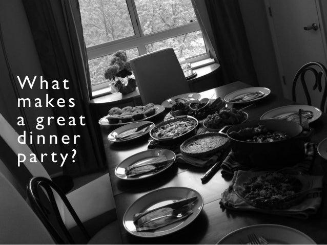 Data Dinner Parties Slide 2