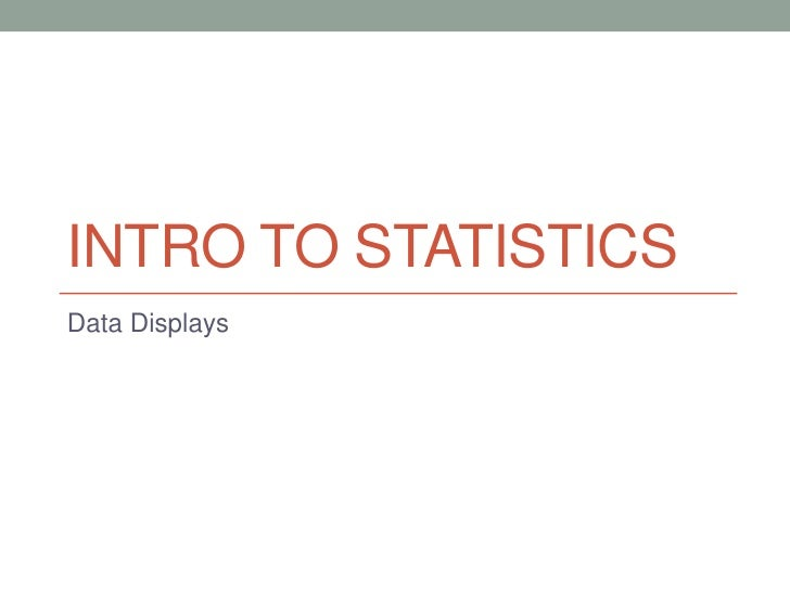 INTRO TO STATISTICSData Displays