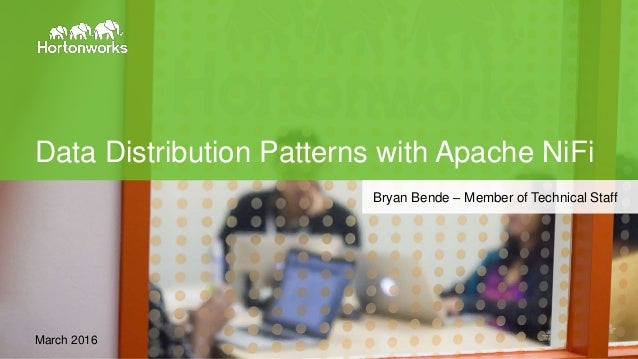 Page1 © Hortonworks Inc. 2011 – 2015. All Rights Reserved Data Distribution Patterns with Apache NiFi March 2016 Bryan Ben...