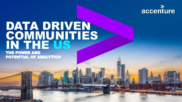 DATA DRIVEN COMMUNITIES IN THE USTHE POWER AND POTENTIAL OF ANALYTICS