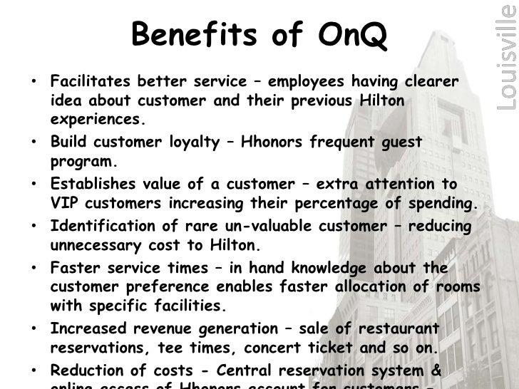 hilton hotels case study on q