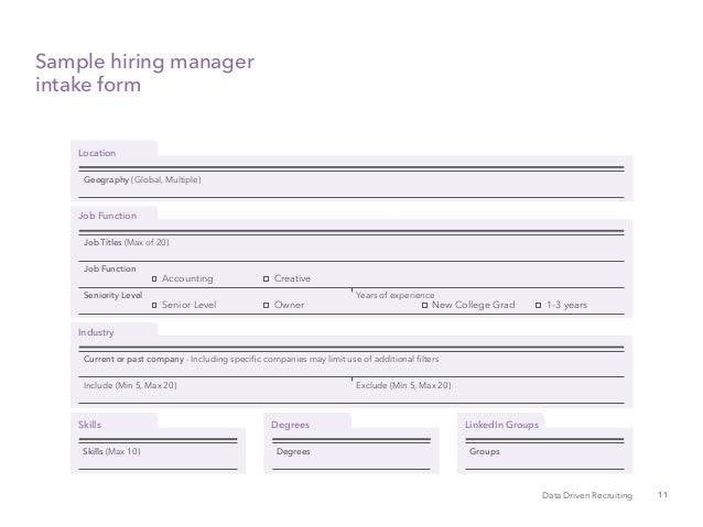 Data driven recruitment playbook