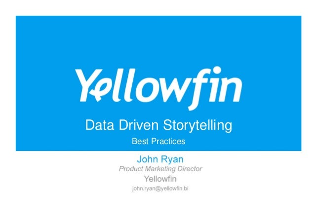 Data Driven Storytelling Best Practices