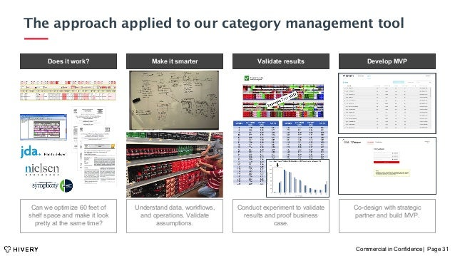 The approach applied to our category management toolg Commercial in Confidence| Page 31 Does it work? Validate results Dev...