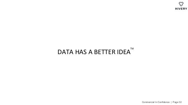 DATAHASABETTERIDEA Commercial In Confidence | Page 32 TM