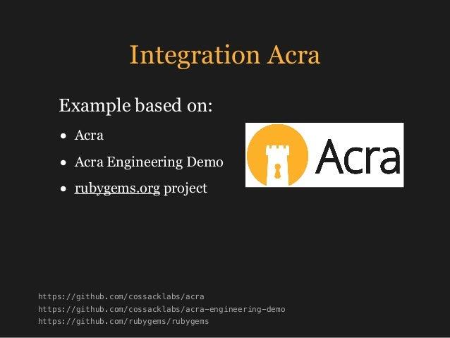 Integration Frontend Backend AcraServer DB + AcraWriter