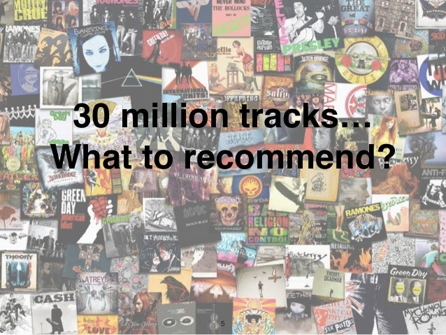 5 30 million tracks… What to recommend?