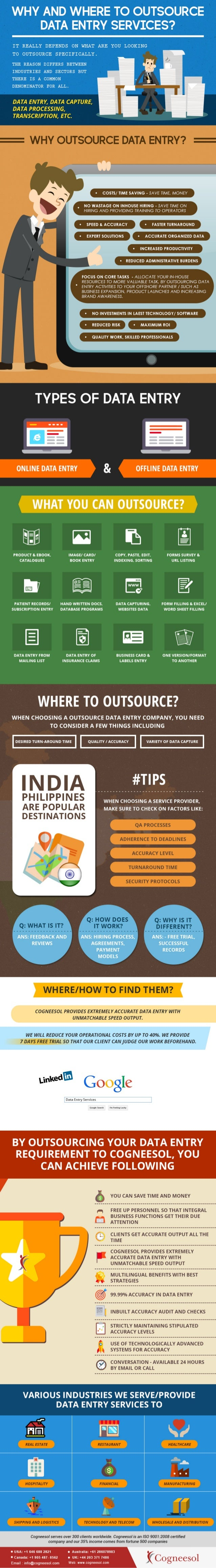 Why and Where to Outsource Data Entry Services? - Infographic