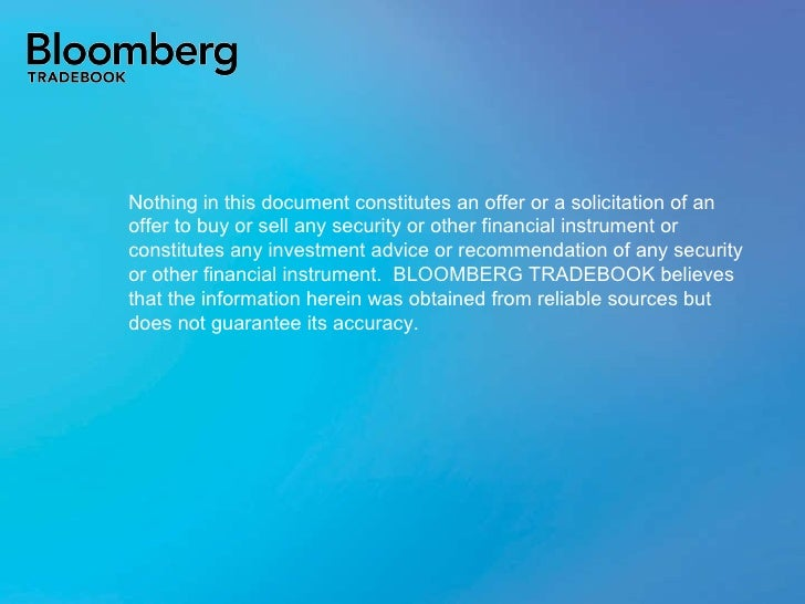 Nothing in this document constitutes an offer or a solicitation of an offer to buy or sell any security or other financial...