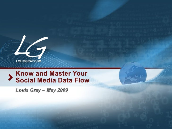 Know and Master Your Social Media Data Flow Louis Gray -- May 2009