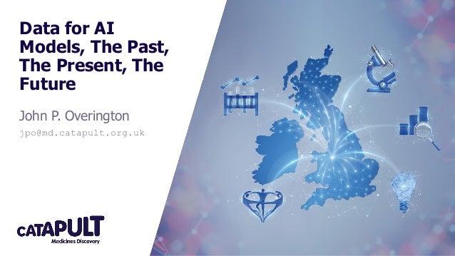Data for AI Models, The Past, The Present, The Future John P. Overington jpo@md.catapult.org.uk
