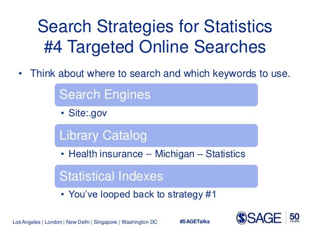 Los Angeles   London   New Delhi   Singapore   Washington DC Search Strategies for Statistics #4 Targeted Online Searches ...
