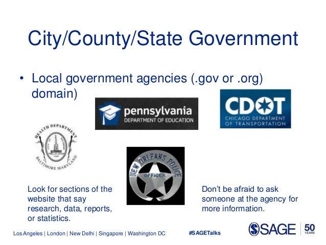 Los Angeles   London   New Delhi   Singapore   Washington DC City/County/State Government • Local government agencies (.go...
