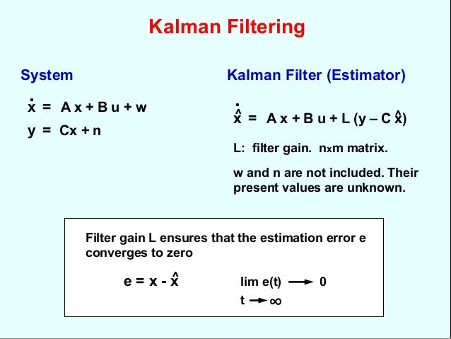 Data fusion with kalman filtering