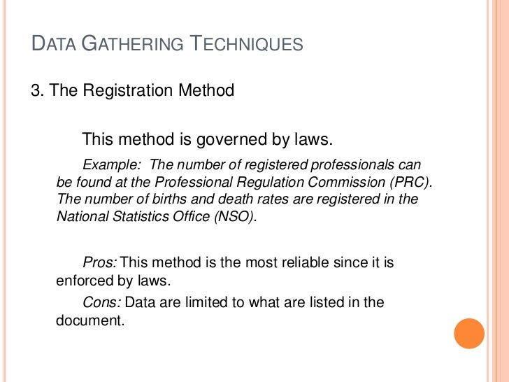 thesis data gathering