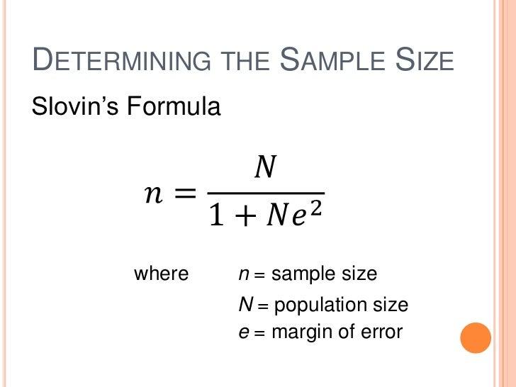 margin of error and sample size relationship virus