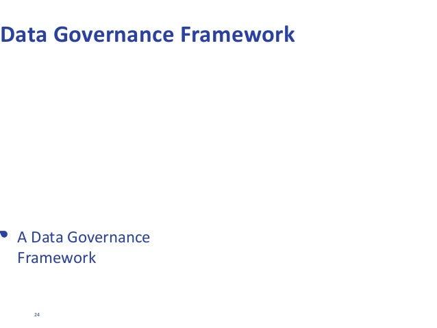 24 dave.huxford@ipl.com Data Governance Framework • A Data Governance Framework