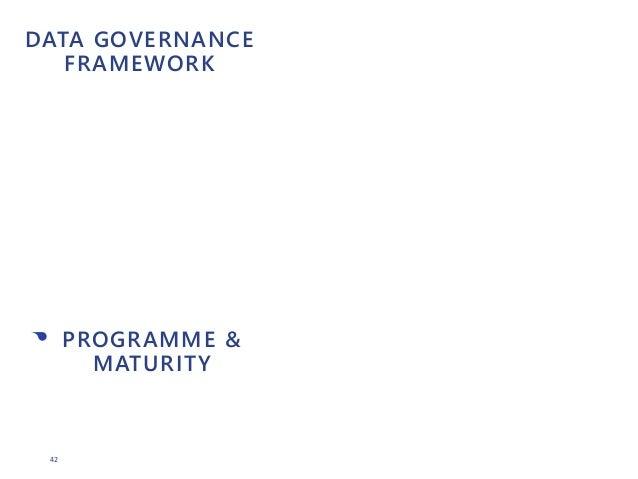 42 DATA GOVERNANCE FRAMEWORK • PROGRAMME & MATURITY