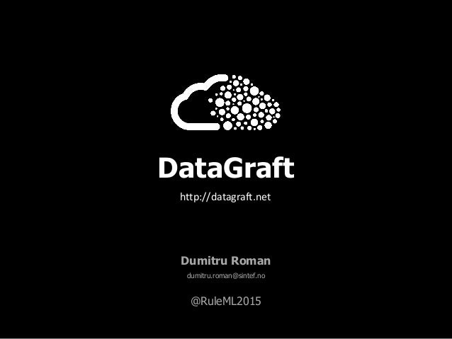 DataGraft Dumitru Roman dumitru.roman@sintef.no @RuleML2015 http://datagraft.net
