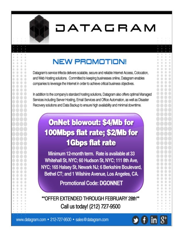 Datagram on net blowout feb 2013 promo