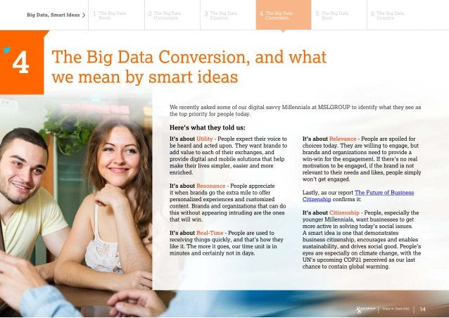 Data In. Data Out. Transforming Big Data into Smart Ideas