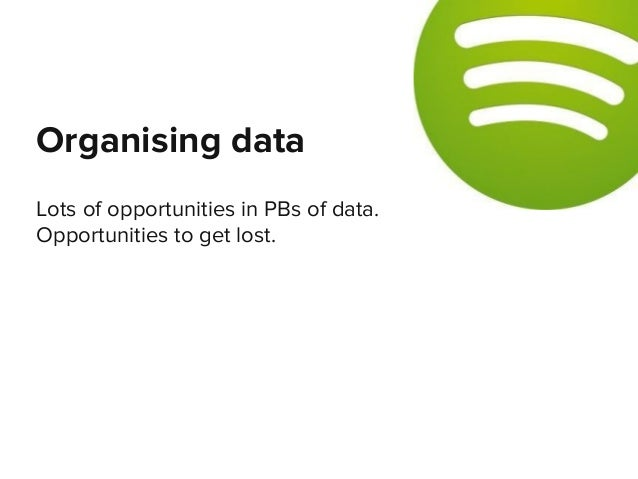 Lots of opportunities in PBs of data. Opportunities to get lost. Organising data