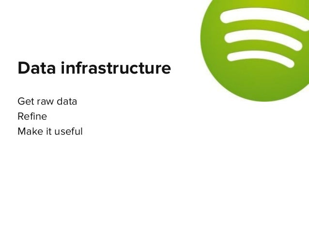 Get raw data Refine Make it useful Data infrastructure