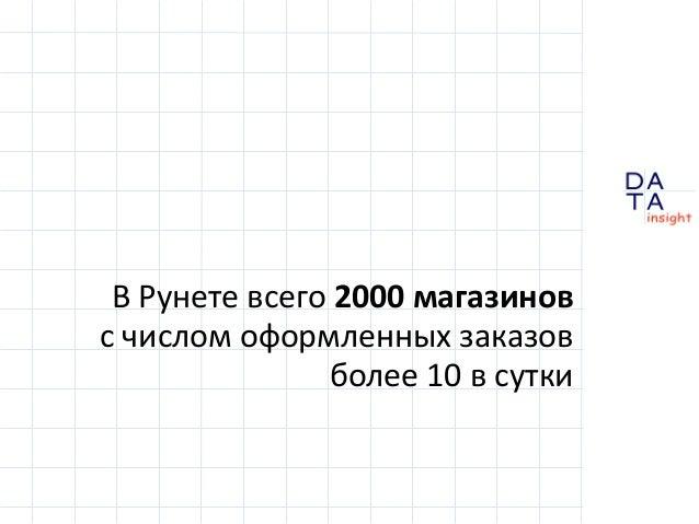 Сколько магазинов на самом деле в Рунете Slide 3