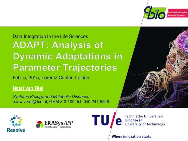 Data Integration in the Life Sciences Feb. 5, 2015, Lorentz Center, Leiden Natal van Riel Systems Biology and Metabolic Di...