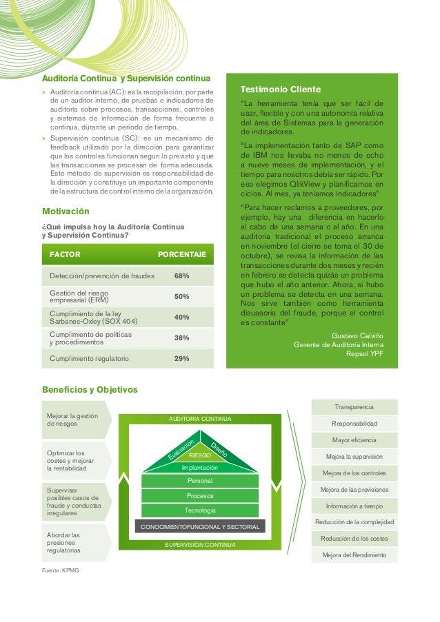 Auditoría Continua y Supervisión continua »» Auditoría continua (AC): es la recopilación, por parte de un auditor interno,...