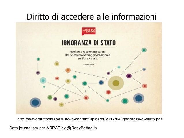 Data journalism per ARPAT by @RosyBattaglia Diritto di accedere alle informazioni http://www.dirittodisapere.it/wp-content...