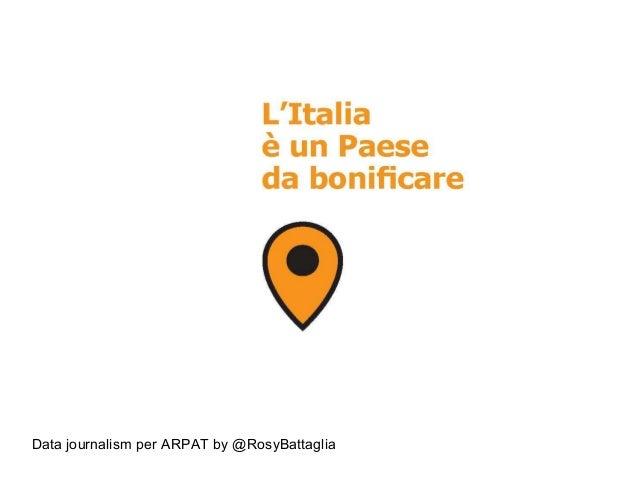 Data journalism per ARPAT by @RosyBattaglia