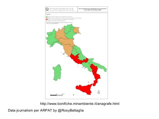 Data journalism per ARPAT by @RosyBattaglia http://www.bonifiche.minambiente.it/anagrafe.html