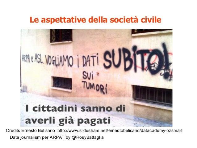 Data journalism per ARPAT by @RosyBattaglia Le aspettative della società civile Credits Ernesto Belisario http://www.slide...
