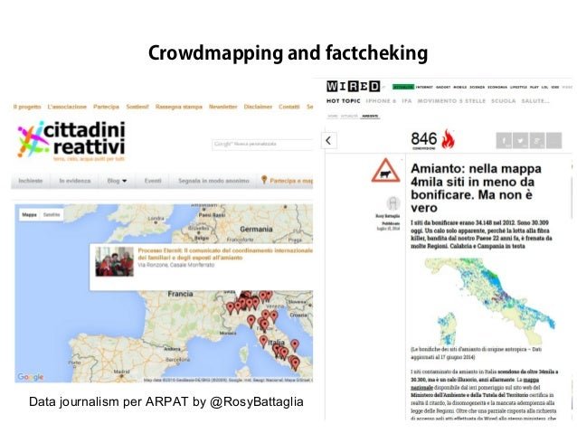 Data journalism per ARPAT by @RosyBattaglia Crowdmapping and factcheking