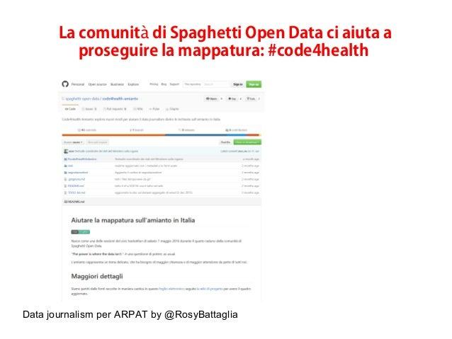 Data journalism per ARPAT by @RosyBattaglia La comunit di Spaghetti Open Data ci aiuta aà proseguire la mappatura: #code4h...