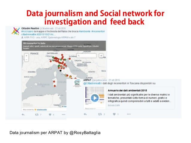 Data journalism per ARPAT by @RosyBattaglia Data journalism and Social network for investigation and feed back