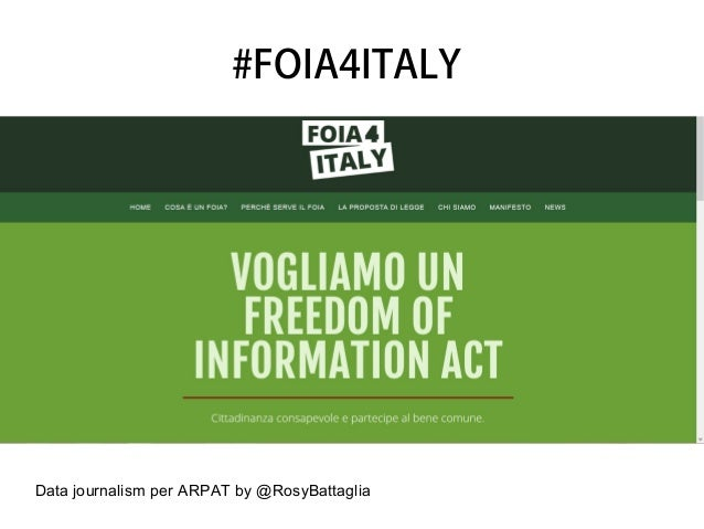 Data journalism per ARPAT by @RosyBattaglia #FOIA4ITALY